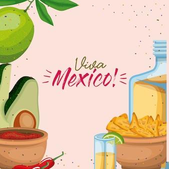 Viva mexico colorful poster