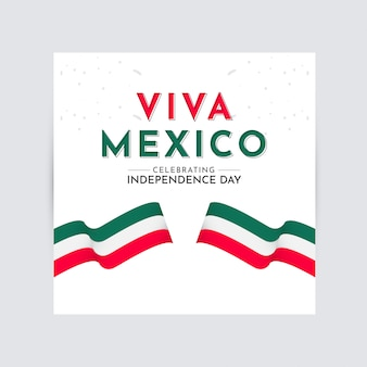 Viva mexico independence day celebration vector template design logo illustration