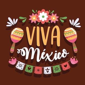 Надпись viva mexico