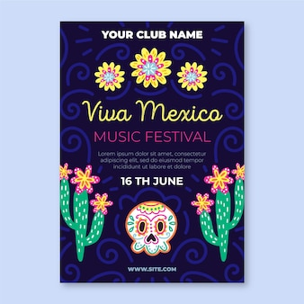 Viva mexico poster template
