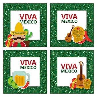 Традиционная карточка viva mexico