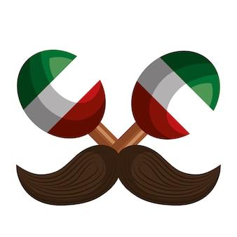 Viva mexico постер значок векторной иллюстрации дизайн