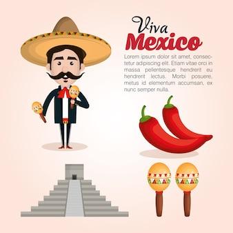 Значок viva mexico