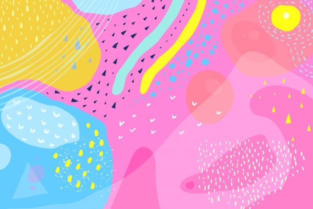 鮮やかな色と大胆な色が背景のデザインを抽象化します。