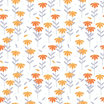 Vivid color flower seamless pattern