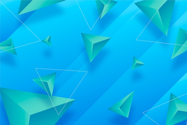 Vivid colors 3d triangles background