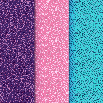 Vivid coloured lines seamless pattern template