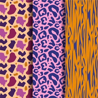 Vivid coloured modern wildlife fur pattern
