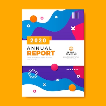 Vivid-colours annual report template
