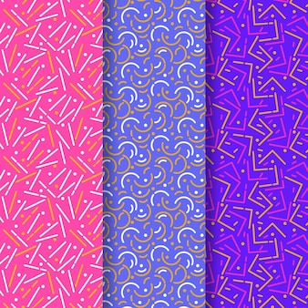 Vivid colours of rounded lines pattern collection