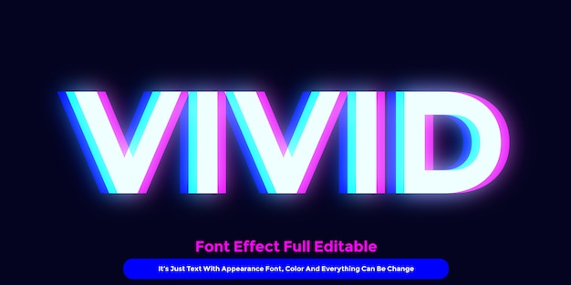 Vivid glow text