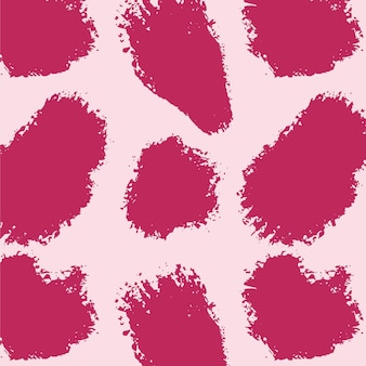Vivid pink abstract brush stroke pattern