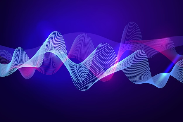Vivid wavy background