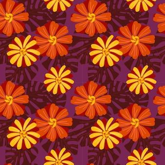 생생한 백 일초 꽃 완벽 한 패턴입니다.