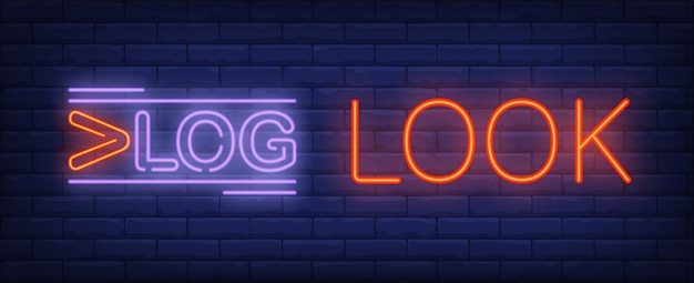 Vlog look neon sign