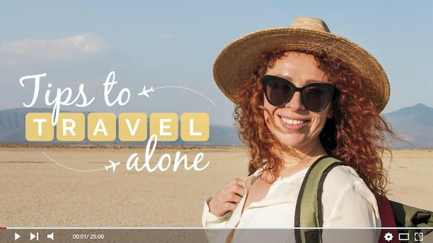 旅行vloggerのサムネイル