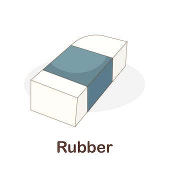 Vocabulary flash card for kids. rubber to with picture rubber to