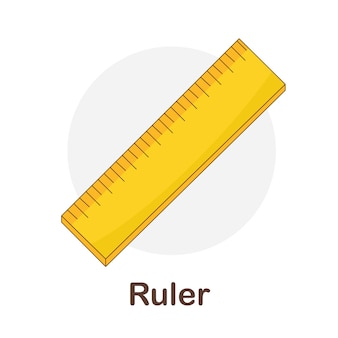 Vocabulary flash card for kids. ruler to with picture ruler to