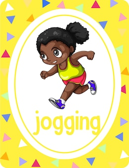 Vocabulary flashcard with word jogging