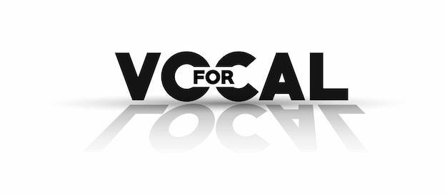Vocal for local text, vector illustration.