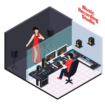 Vocal recording isometric composition