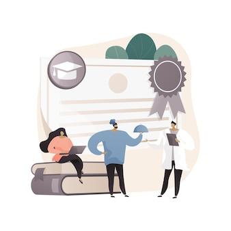 Иллюстрация абстрактной концепции профессионального образования
