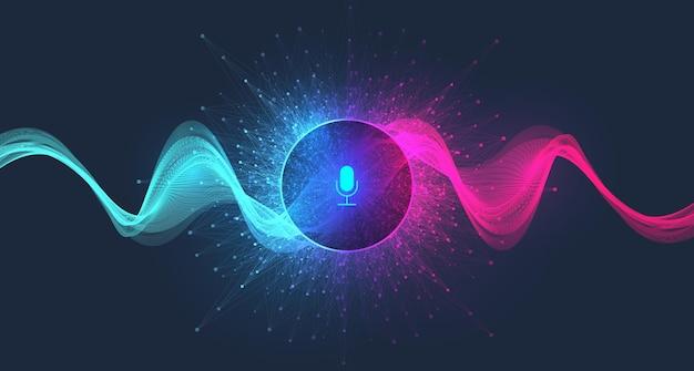 음성 비서 개념 배경 그림