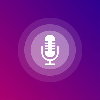 Voice assistant white icon on white background. vector illustration.