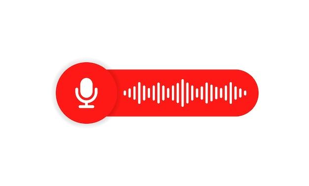 채팅을 위한 음성 메시지 아이콘입니다. 음성 메시지 통신. 음성 메시지 거품.