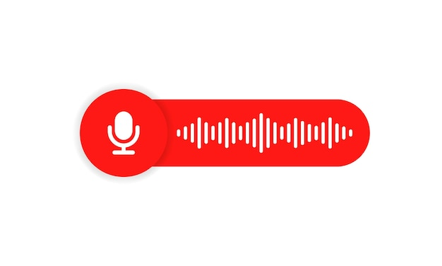 Voice message icon for your chat. voice messaging correspondence. voice messages bubble.
