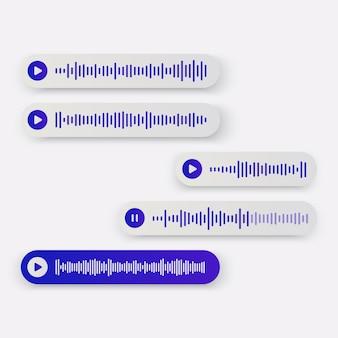 Концепция страницы голосовых сообщений для приложений социальной сети.