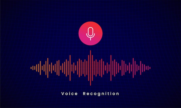 Voice recognition ai personal assistant illustration design
