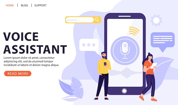 Voice recognition concept.