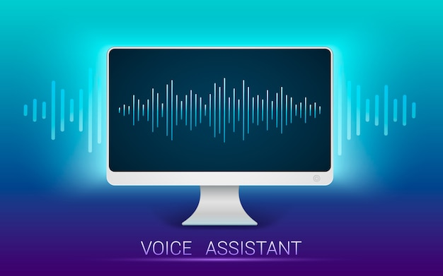 Voice recognition. personal assistant and voice recognition. v