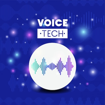 Voice recognition tech with soundwave lines
