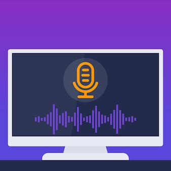 Voice recognition in tv, vector