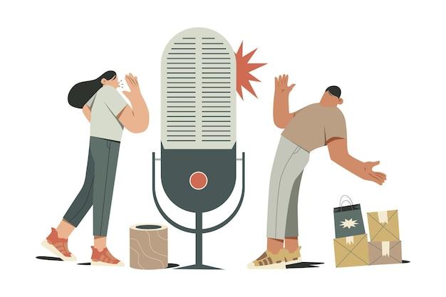 Voice shopping illustration