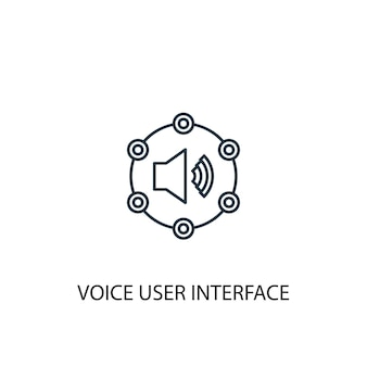 Voice user interface concept line icon. simple element illustration. voice user interface concept outline symbol design. can be used for web and mobile ui/ux
