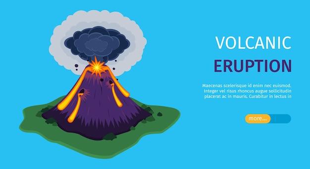 화산 폭발 배너 템플릿