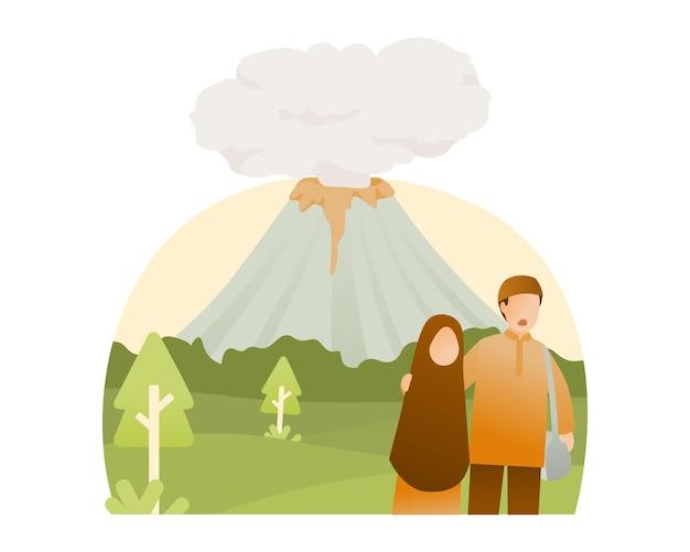 화산 폭발 삽화