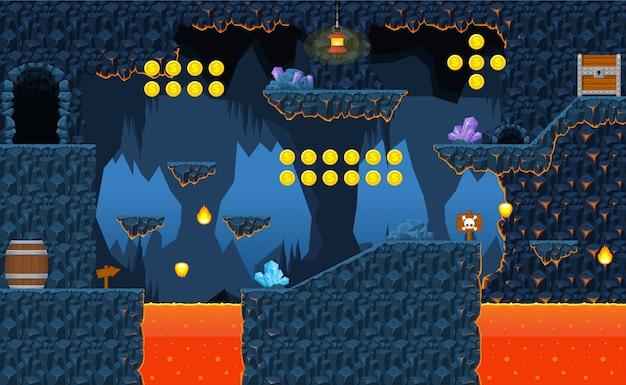 Volcano game tileset