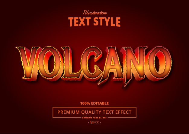 Volcano text effect