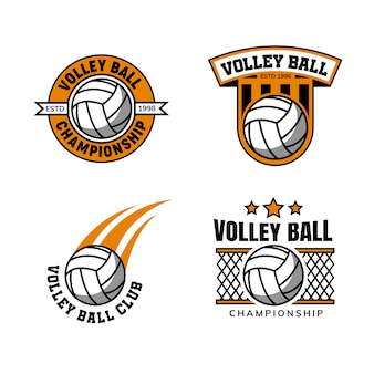 Volley ball logo design template badge