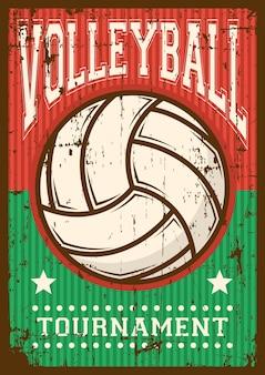 Волейбол волейбол спорт ретро поп-арт постер