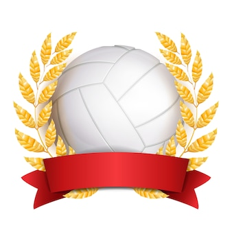 Volleyball award Premium Vector