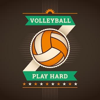 Volleyball background Premium Vector
