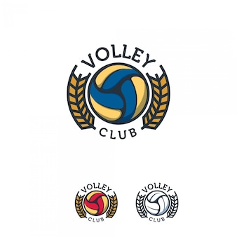 Volleyball badge set