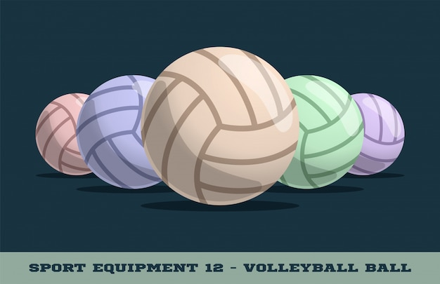 Volleyball balls icon