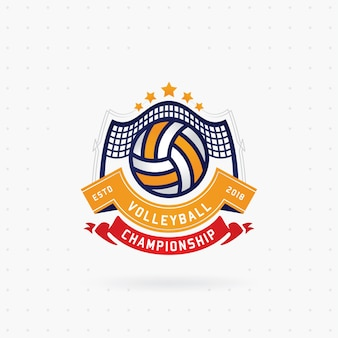 Volleyball championship logo design