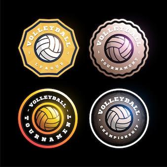 Volleyball circular  badge